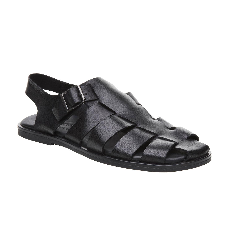 Černé pánské kožené sandály
