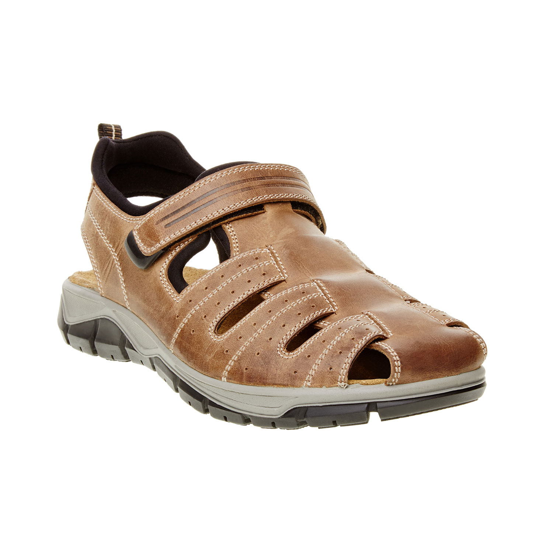Pánské kožené sandály s plnou špicí