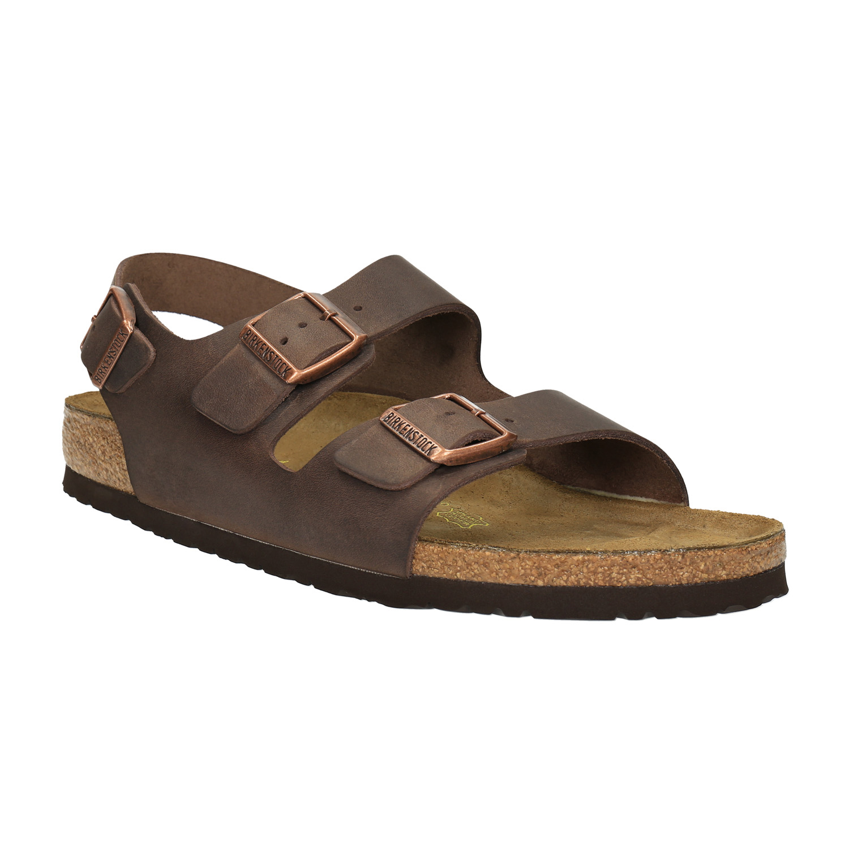 Pánské kožené sandály na korkové podešvi