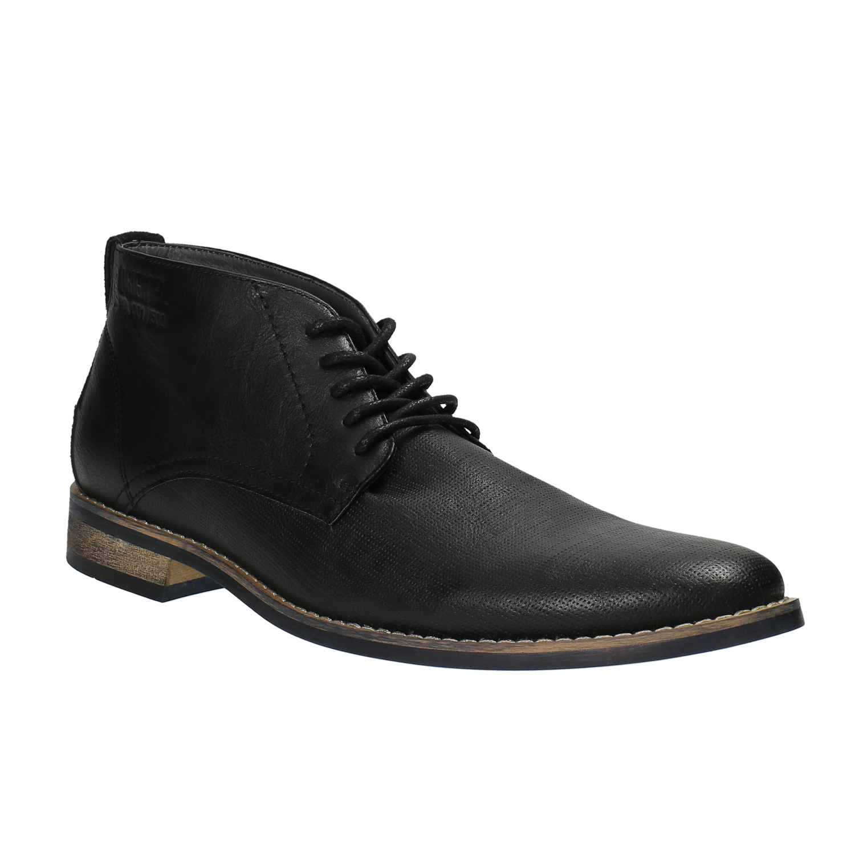 Czarne buty męskie za kostkę - 8916600