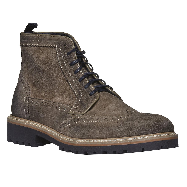 Semišová kotníčková obuv