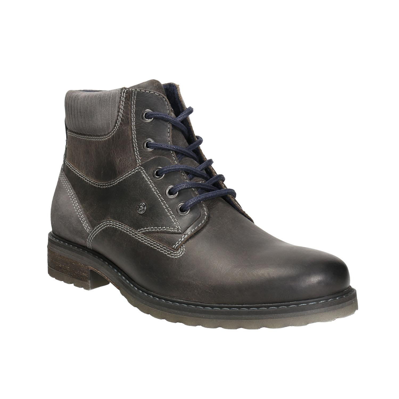 Kožená obuv ke kotníkům