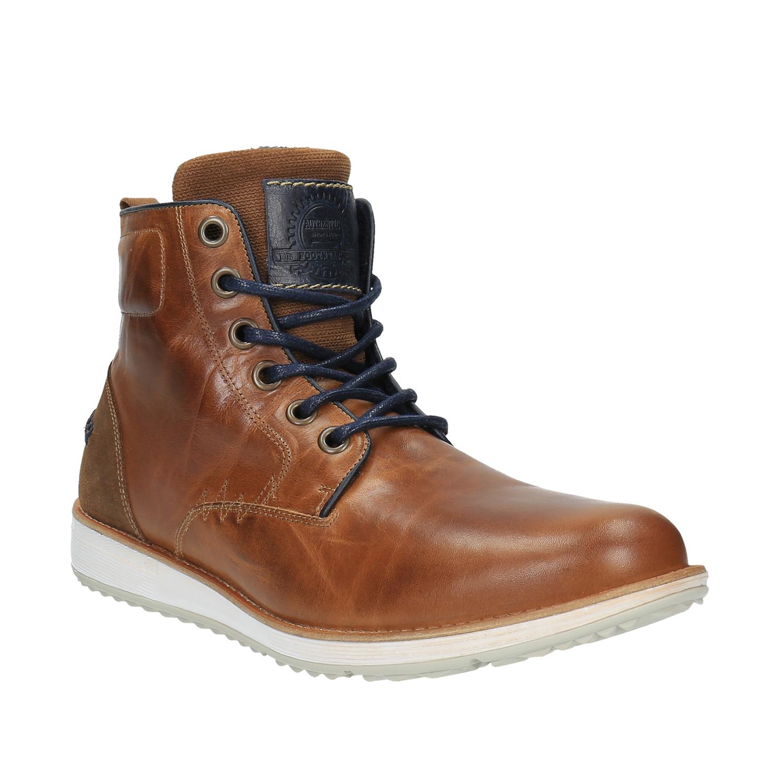 Skórzane buty za kostkę, zpodeszwą wnieformalnym stylu