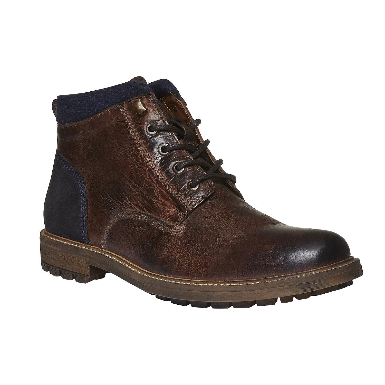 Kožené kotníkové boty