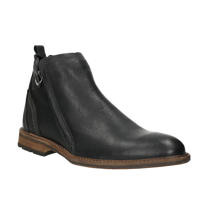 Skórzane buty męskie za kostkę - 8946660