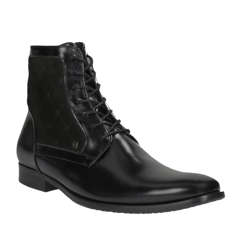 Skórzane ocieplane buty za kostkę - 8946677