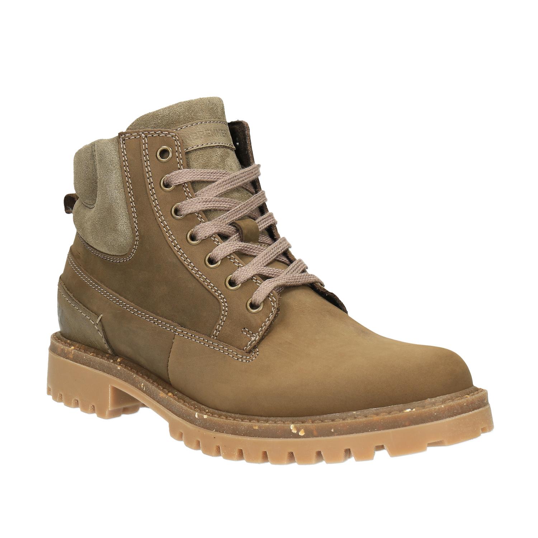 Pánská zimní obuv kožená
