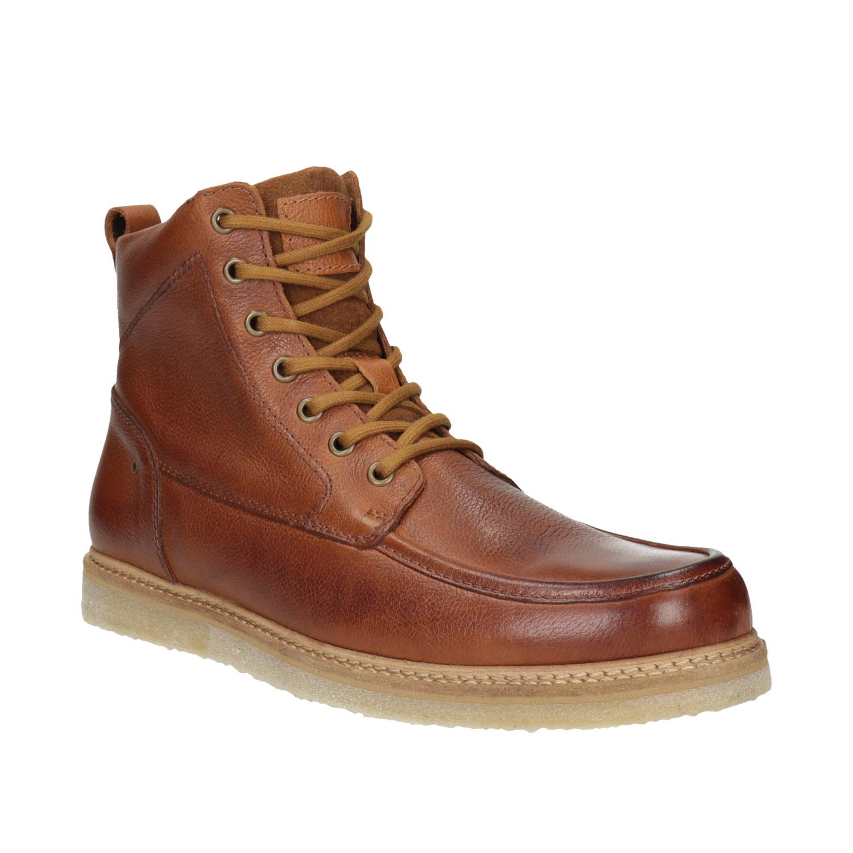 Skórzane buty męskie za kostkę - 8963652