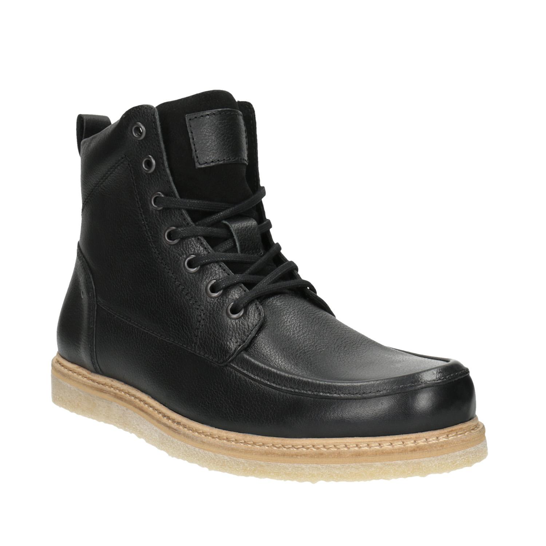 Pánská kožená kotníčková obuv