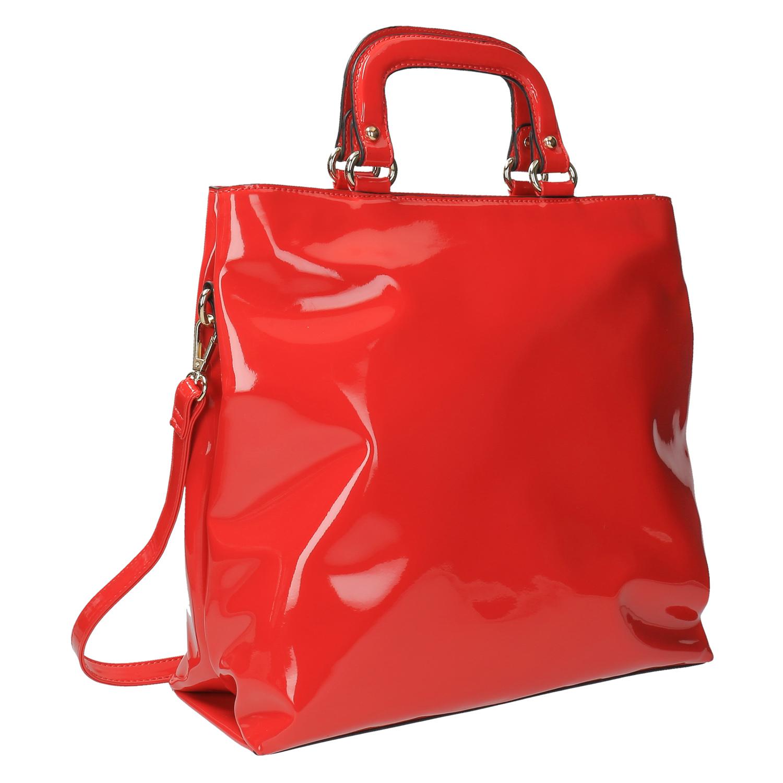 Červená dámská kabelka do ruky