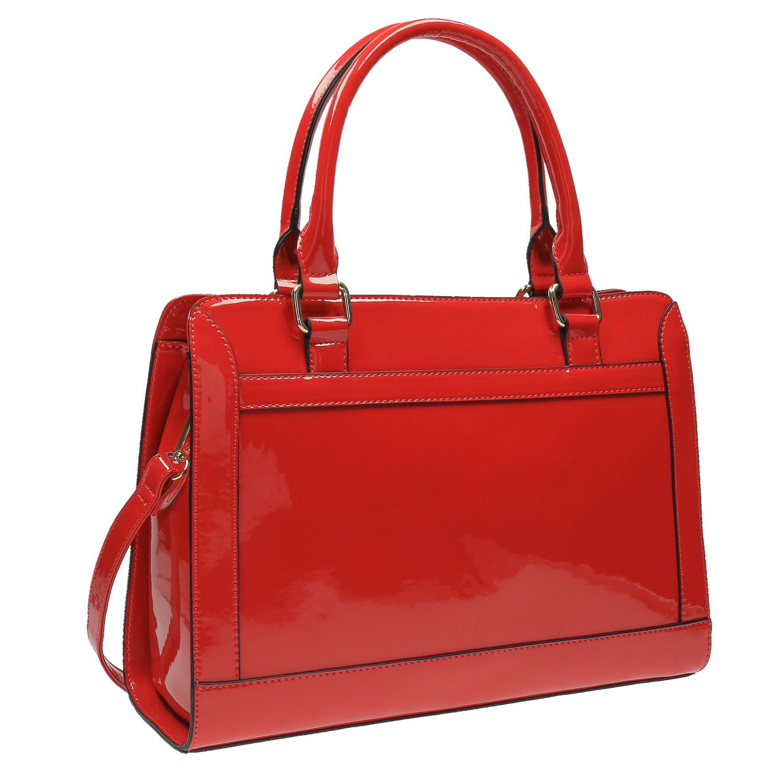 Lesklá červená kabelka