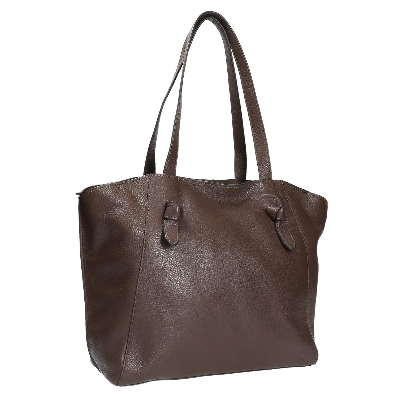 Dámská kožená kabelka hnědá