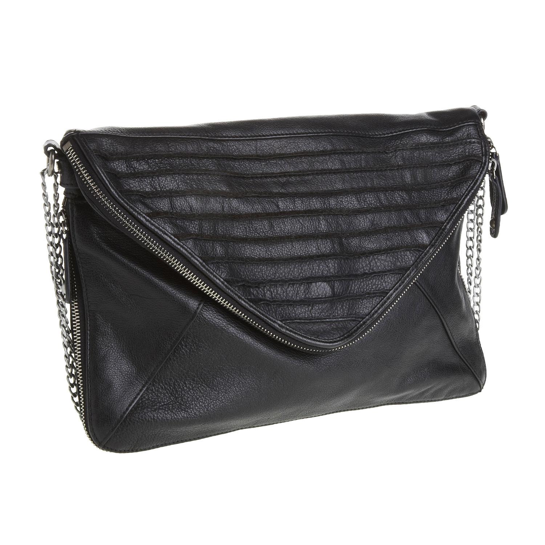 Menší kožená kabelka s klopou