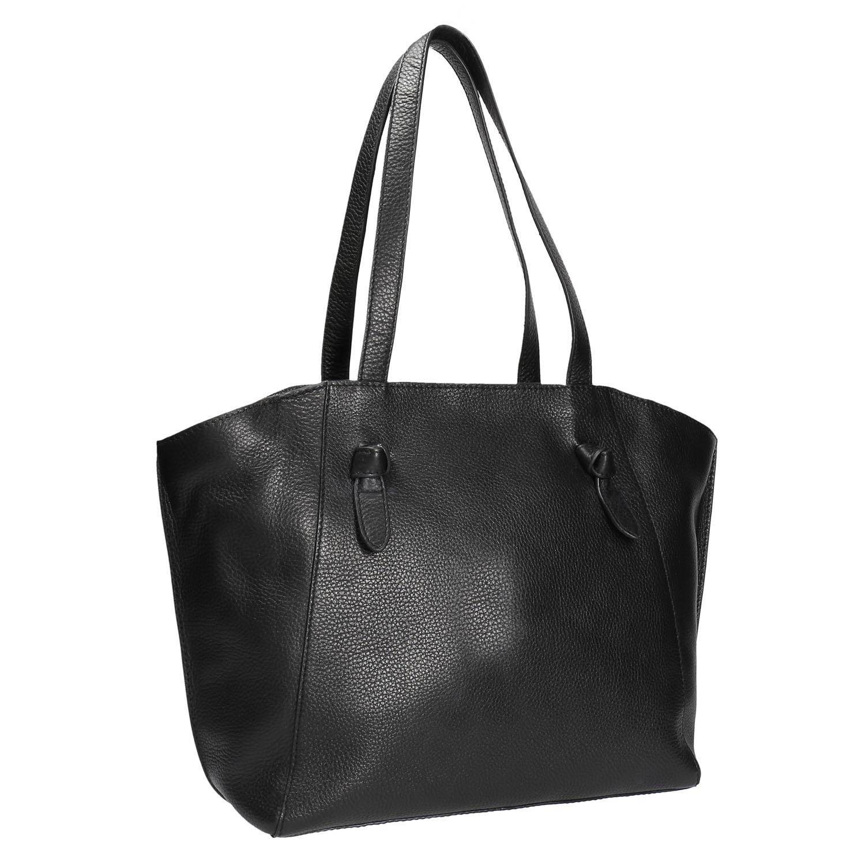 Černá kožená kabelka