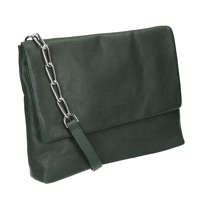 Menší kožená kabelka s řetízkem