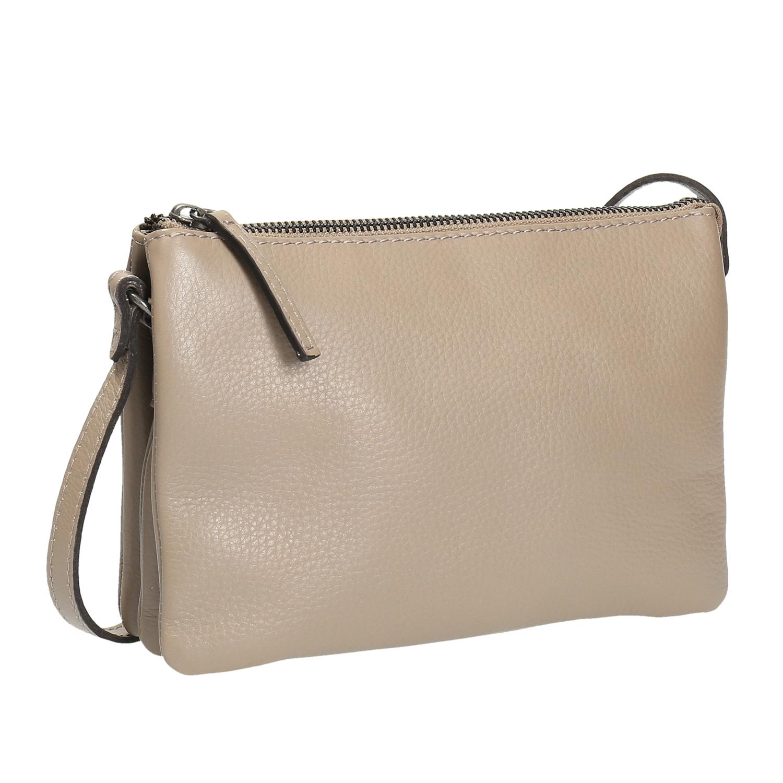 Béžová kožená Crossbody kabelka