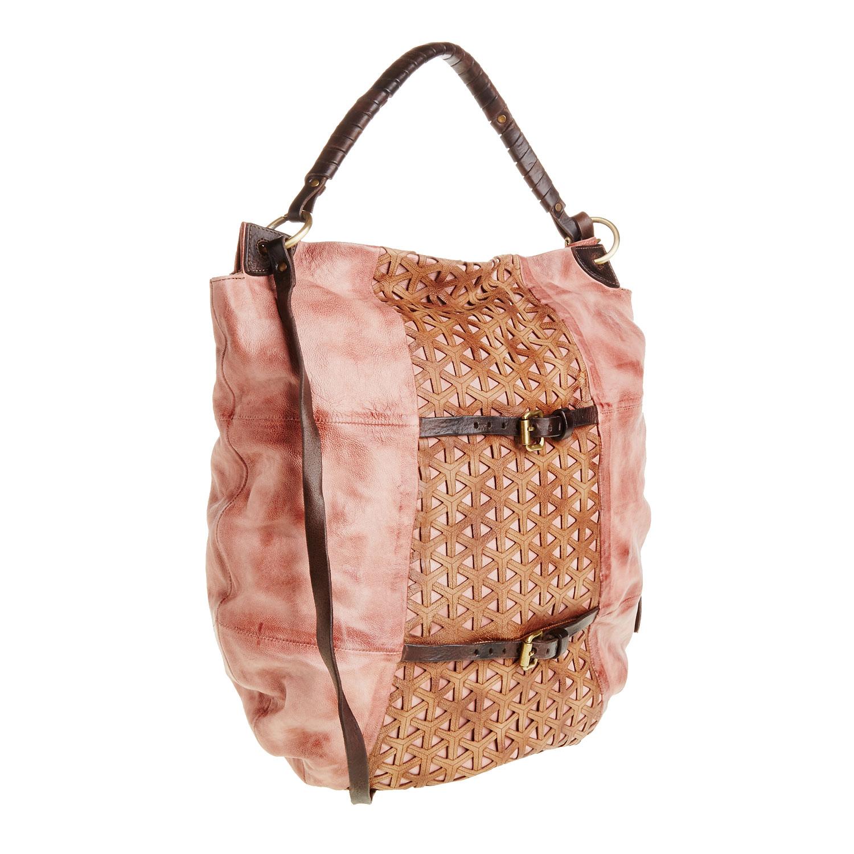 Kožená kabelka s řemínky
