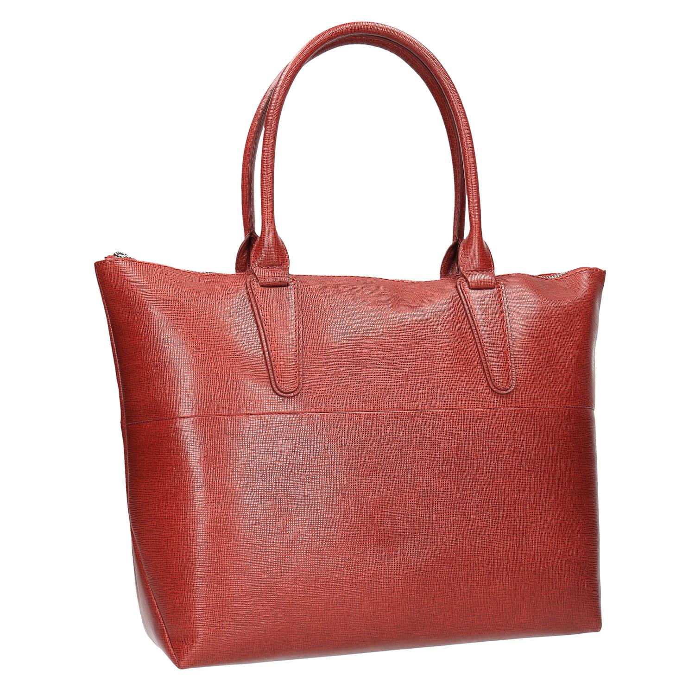 Dámská kožená kabelka červená