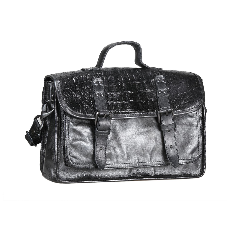 Kožená kabelka ve stylu aktovky