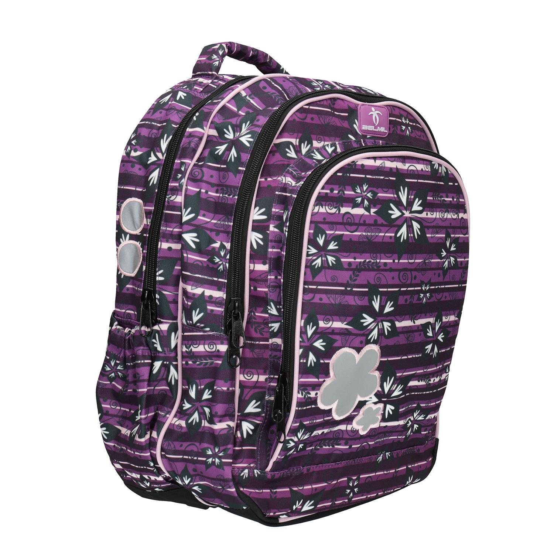 Fialový školní batoh