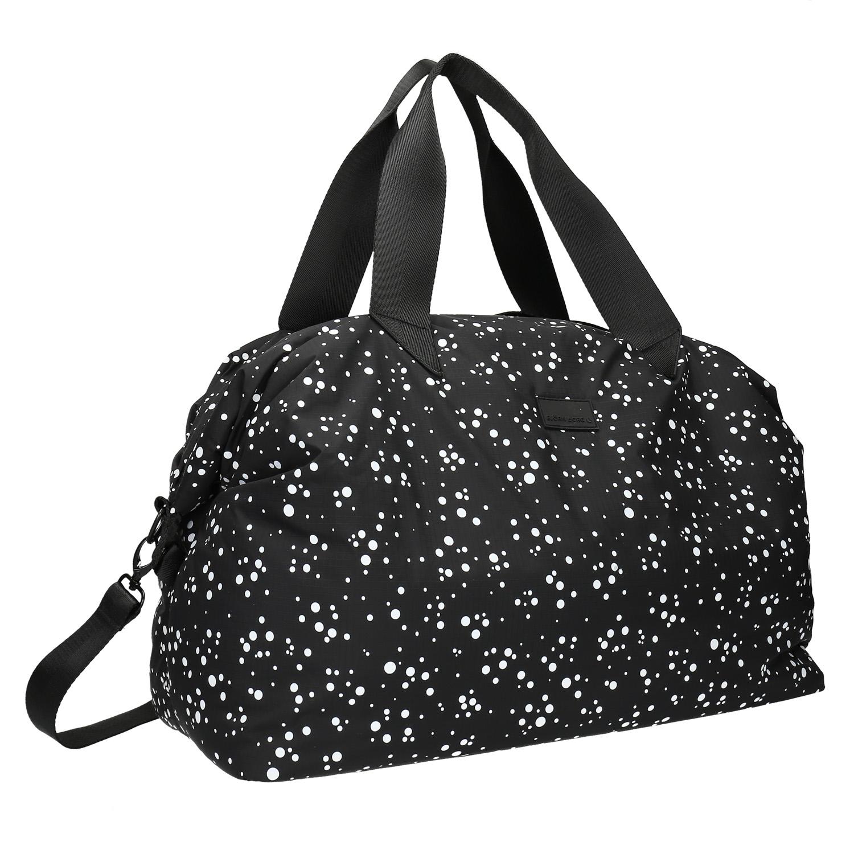 Cestovní taška s puntíkovaným vzorem