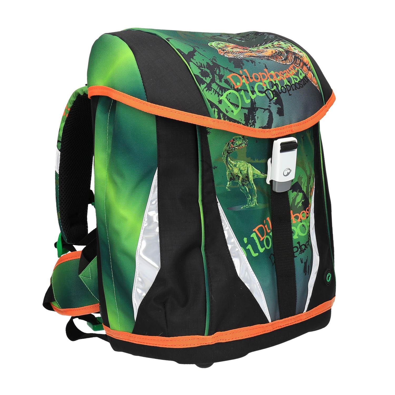 Zelený školní batoh