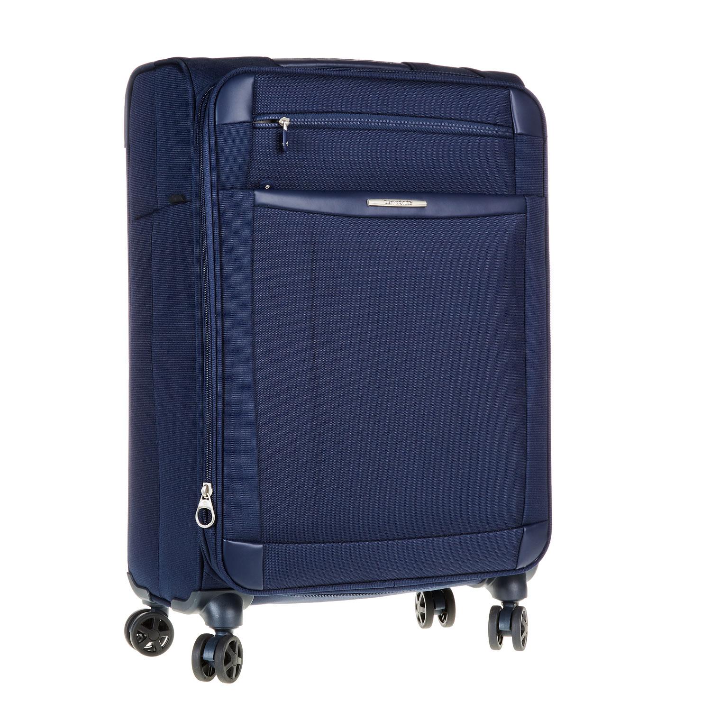 Textilní cestovní kufr na kolečkách