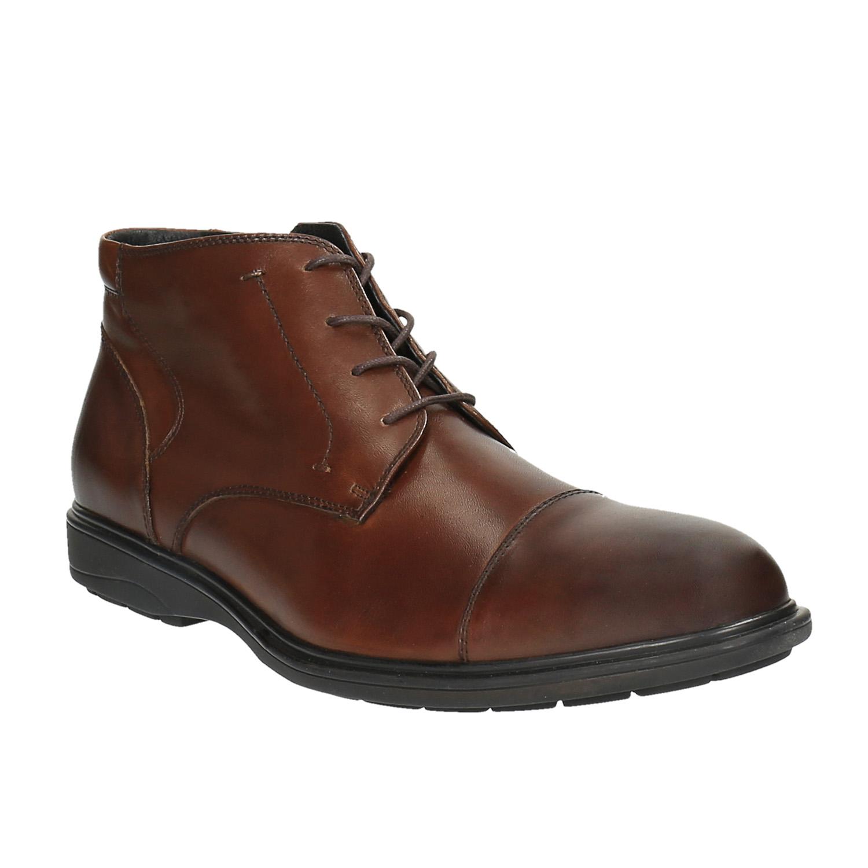 Męskie skórzane buty do kostki - 8944671