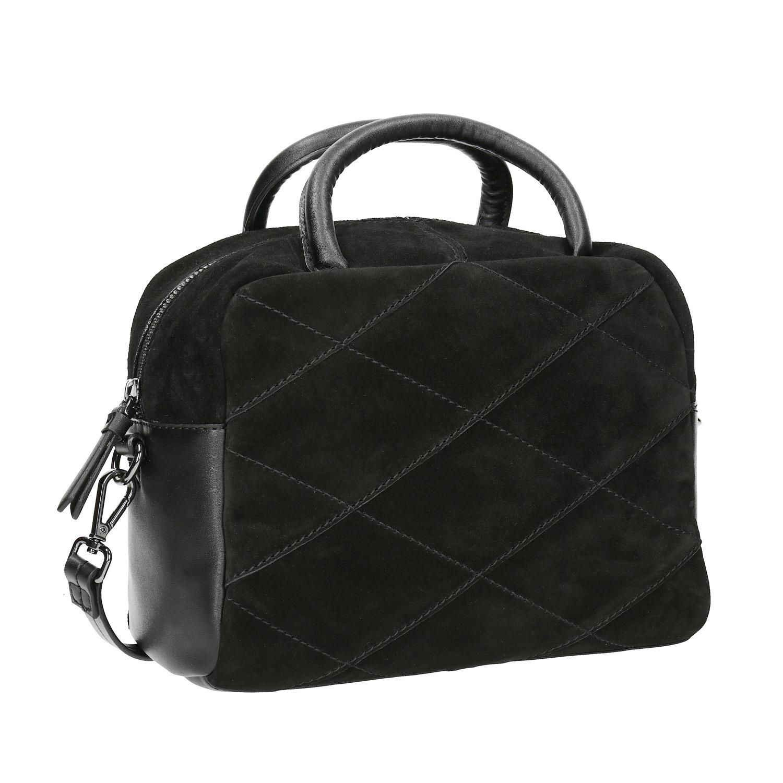Malá kožená kabelka s popruhem
