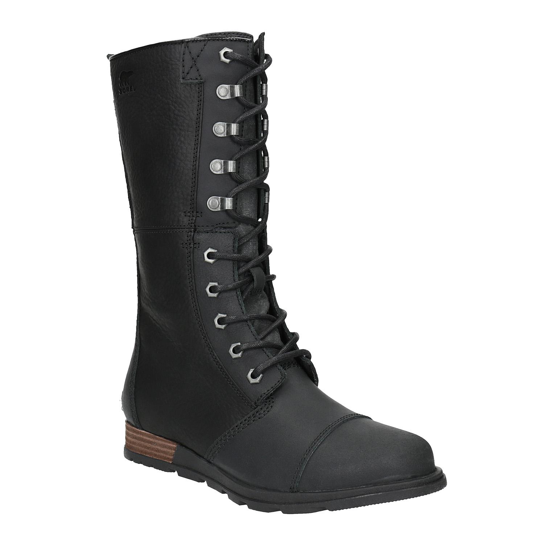 Dámská kožená obuv šněrovací