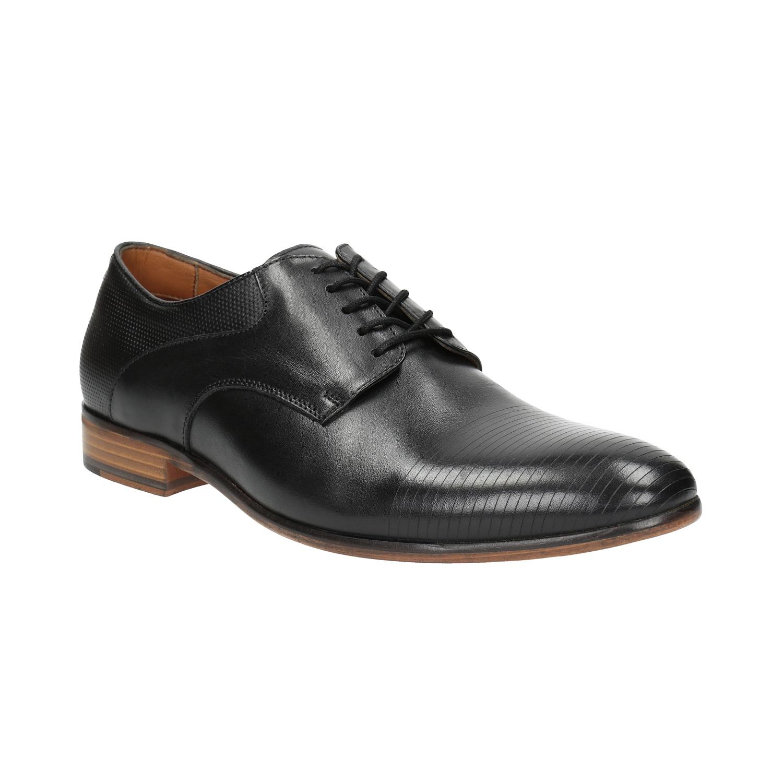 Czarne buty męskie wykonane wcałości ze skóry - 8266778
