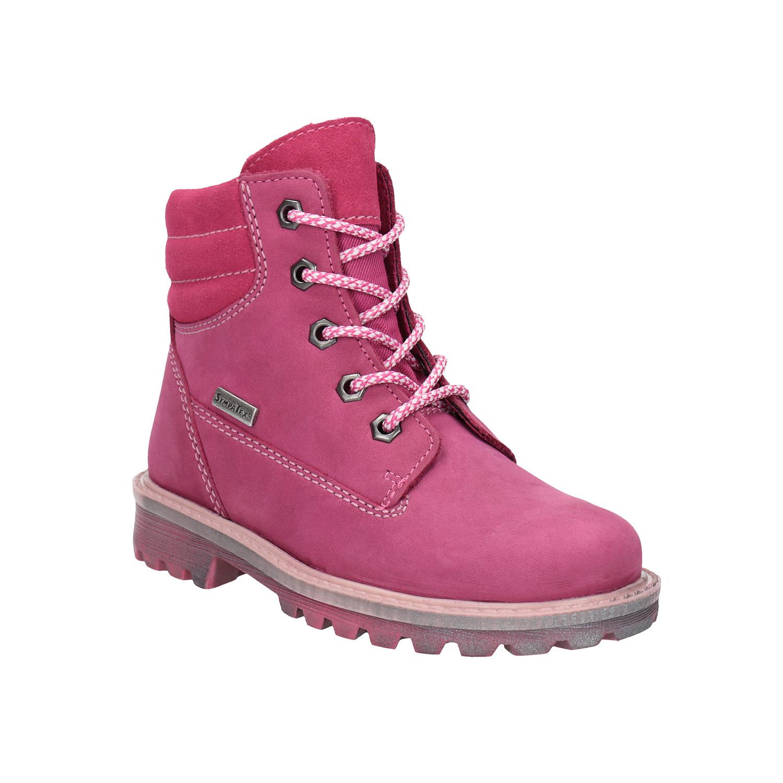 Kožená zimní obuv růžová