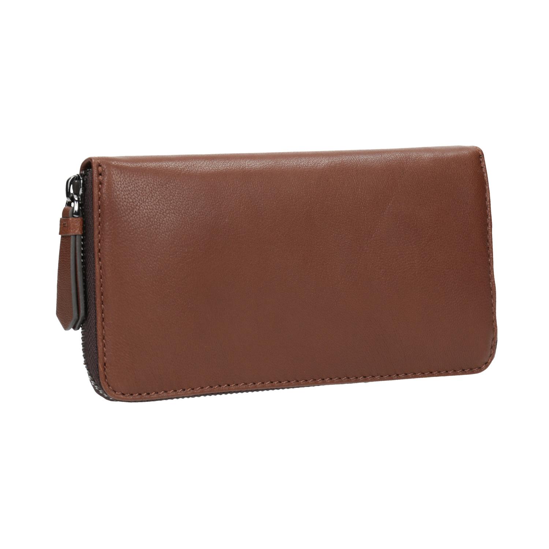 Hnědá kožená peněženka