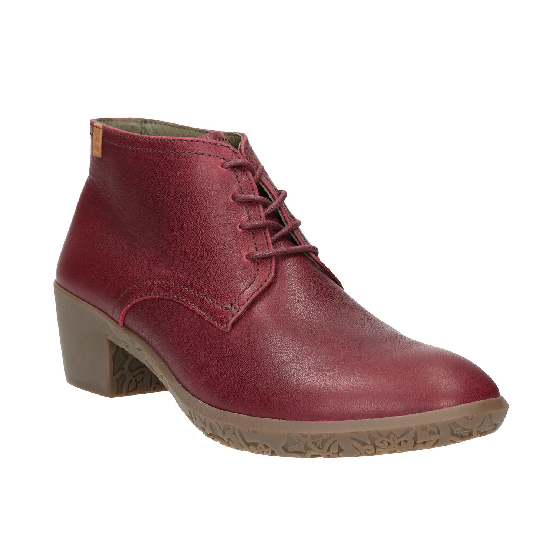 Kožená dámská obuv ke kotníkům