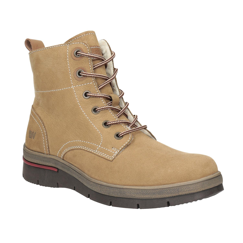 Dámská zimní obuv kožená
