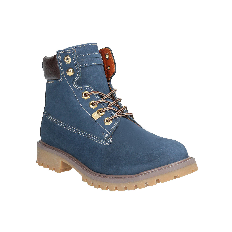Dámská kožená obuv modrá