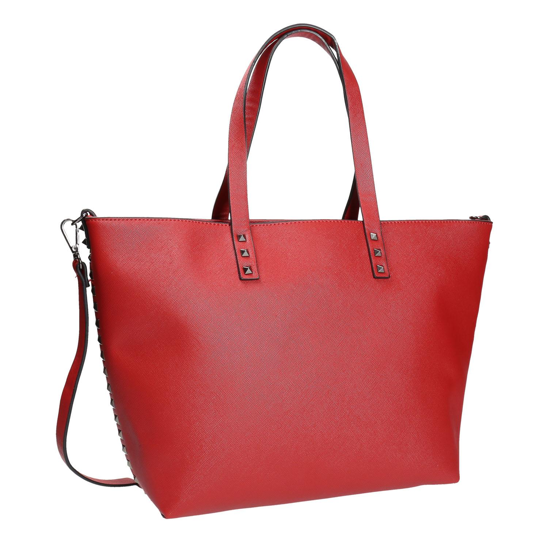 Červená kabelka v Shopper stylu