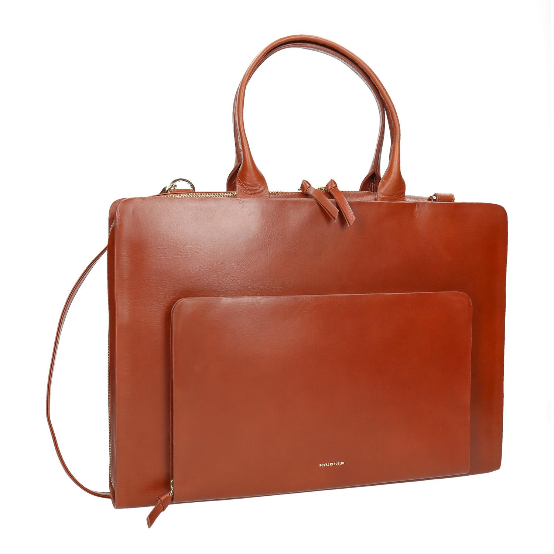 Damska skórzana torba - 9643002