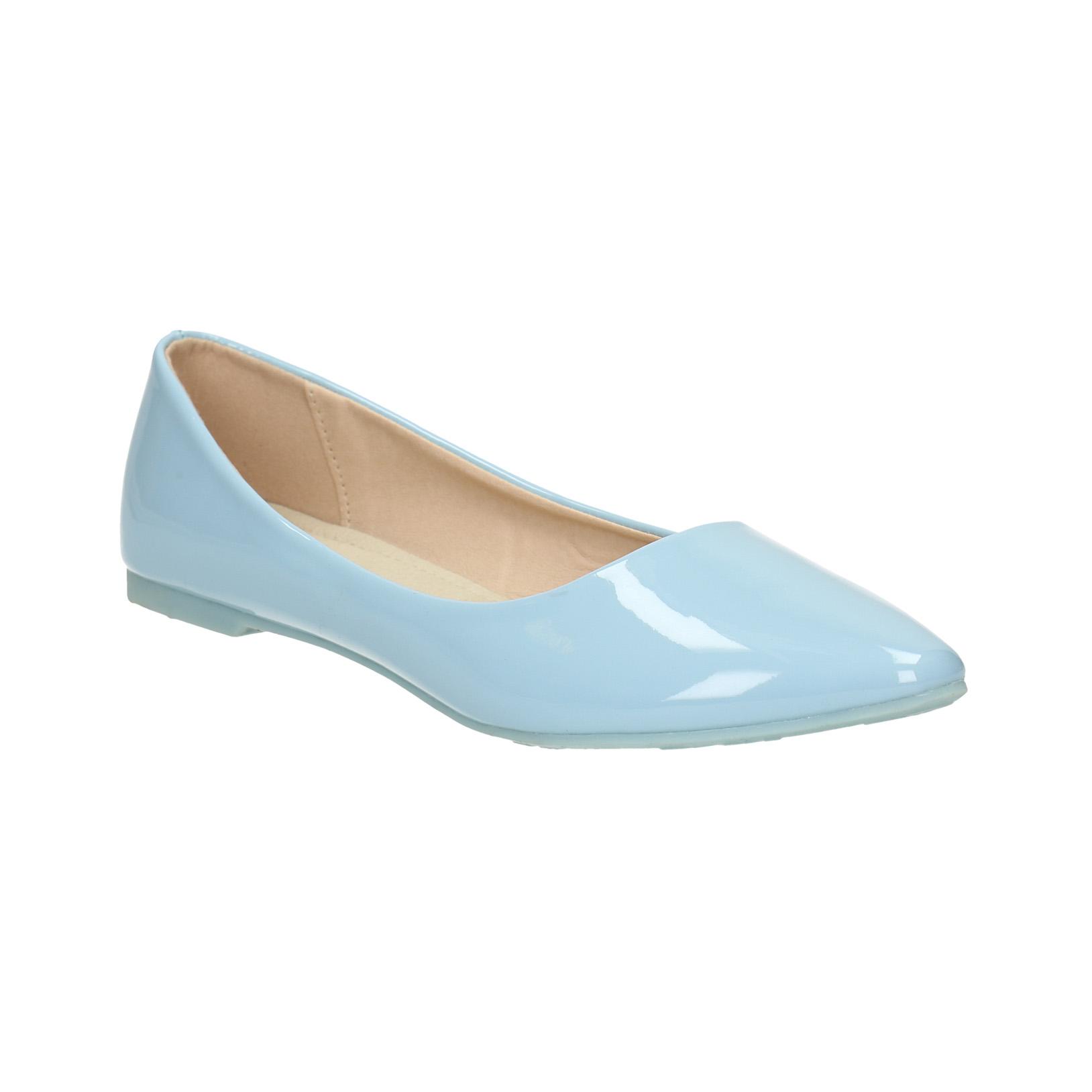 Světle modré dámské baleríny
