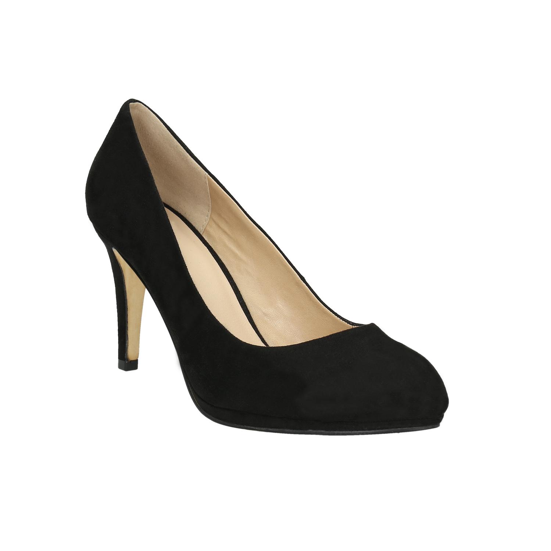 Czarne czółenka damskie - 7296602