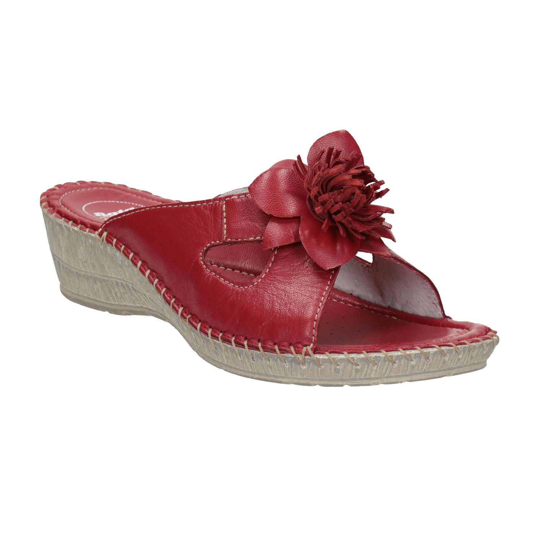 Dámská domácí obuv kožená