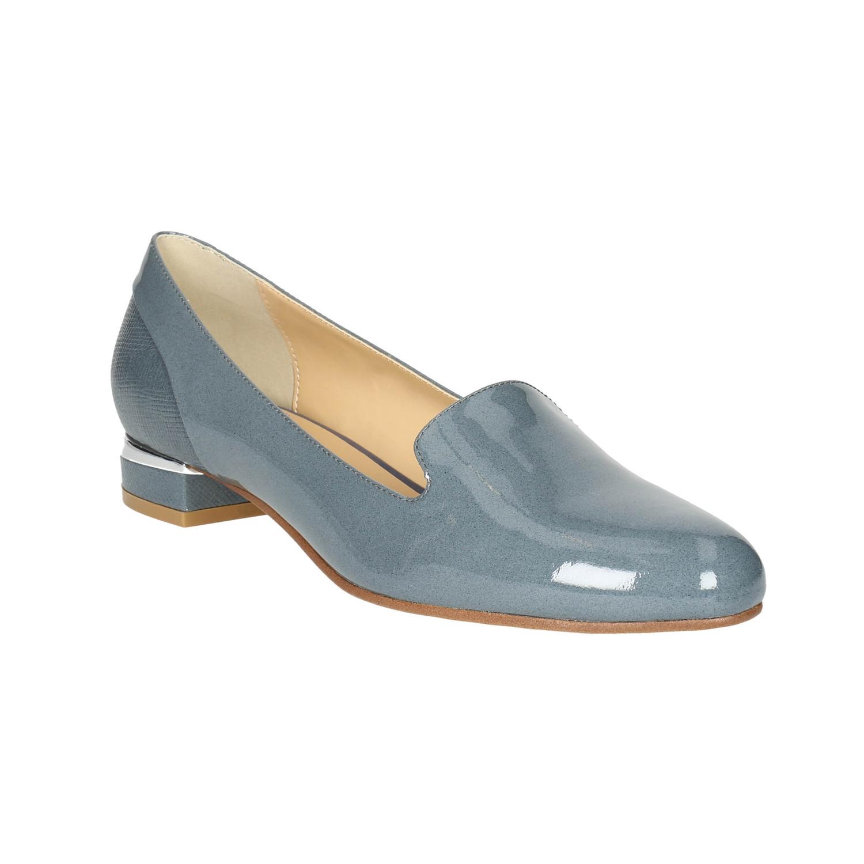 Skórzane damskie buty w stylu Loafers - 5189600
