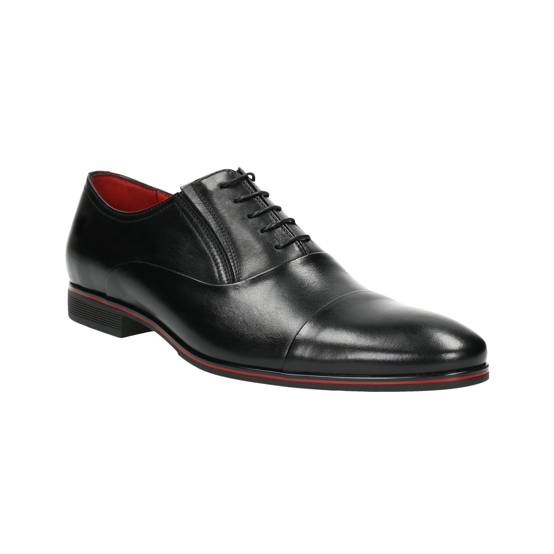 Czarne skórzane półbuty typu oksfordy - 8246868