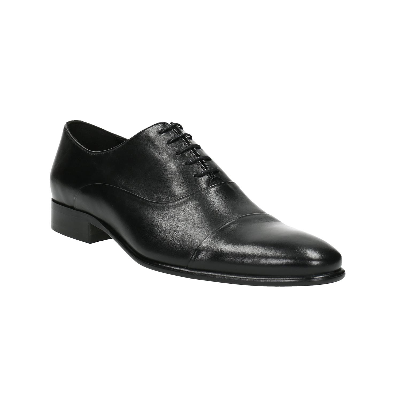 Czarne skórzane półbuty typu oksfordy - 8246897