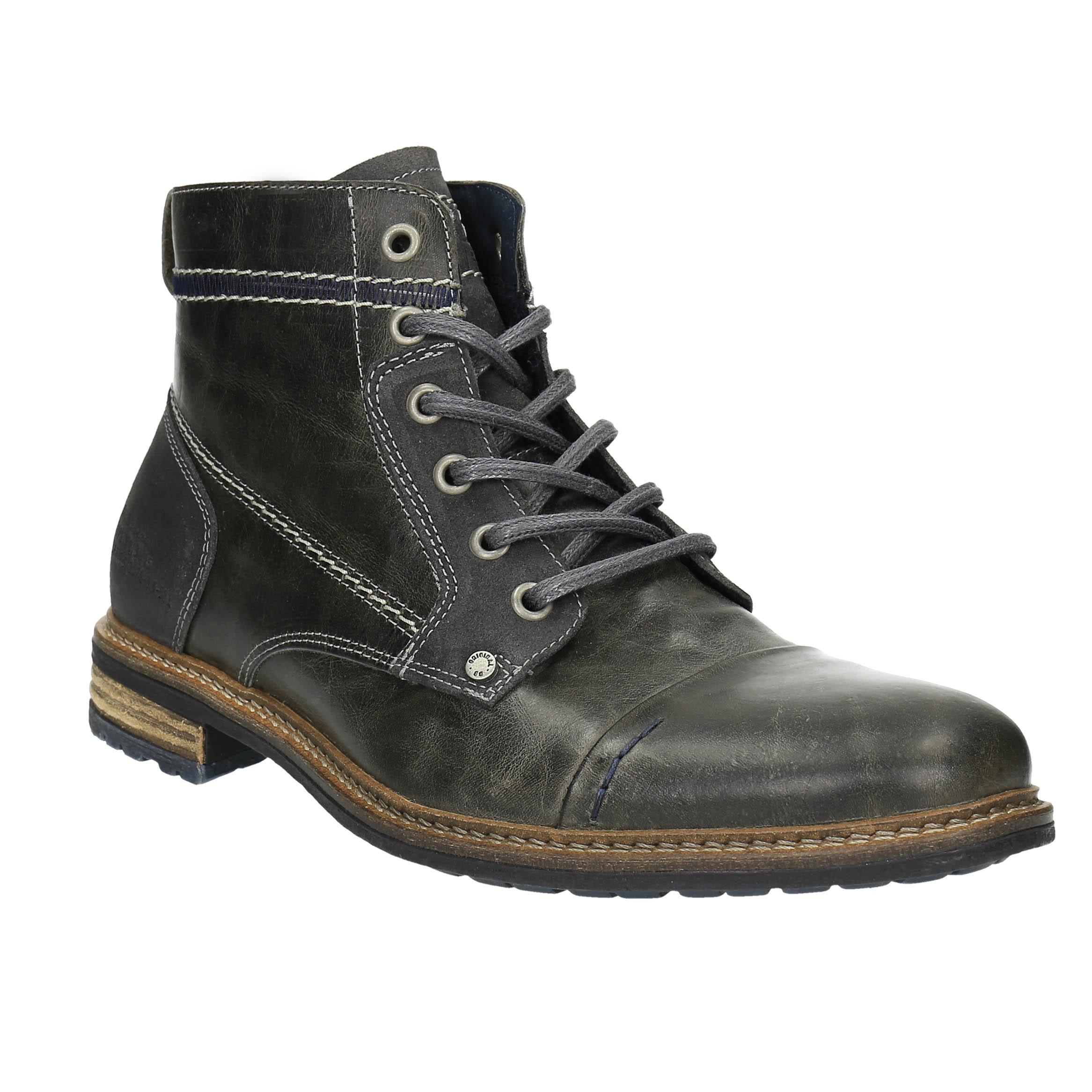 Skórzane buty męskie za kostkę - 8942621