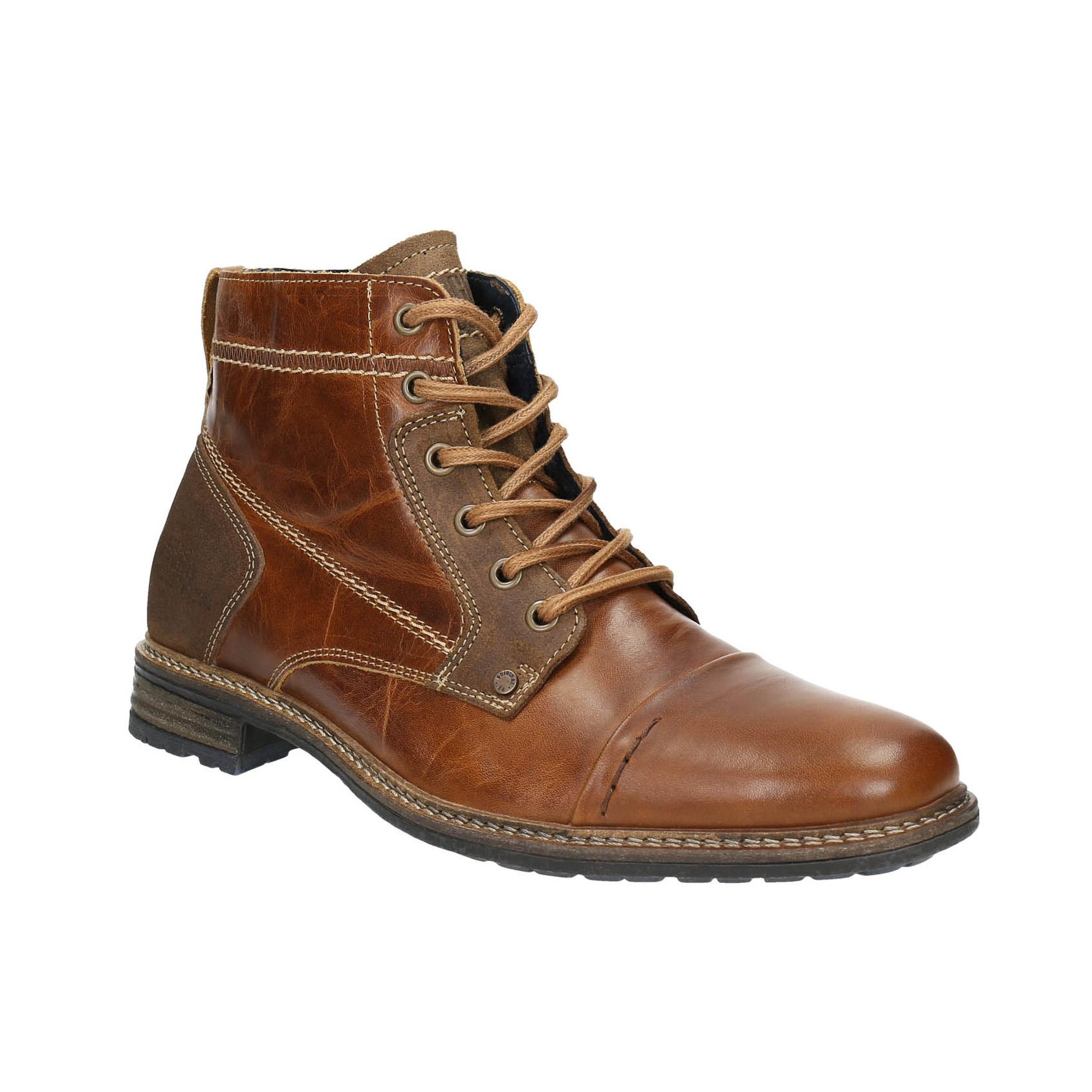 Skórzane buty męskie za kostkę - 8944621