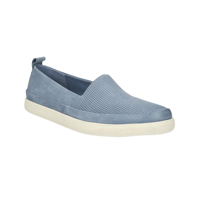 Damskie skórzane buty z perforacją - 5169601