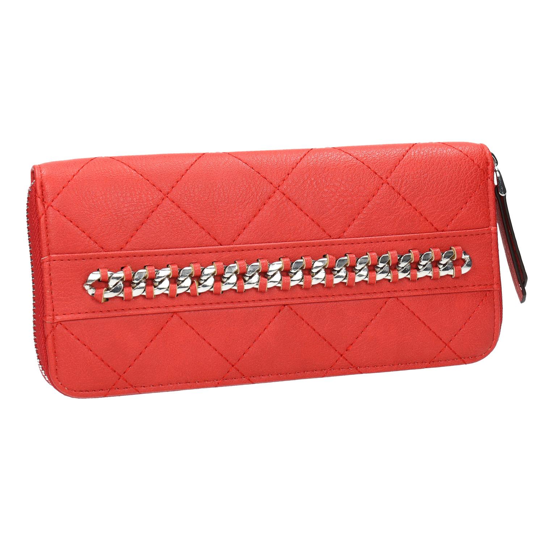 Červená peněženka s řetízkem