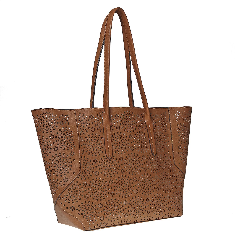 Brązowa torba zperforacją - 9613368