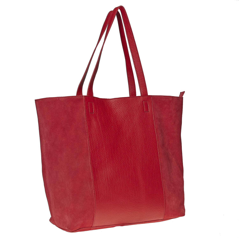 Skórzana torba wstylu shopper - 9645185